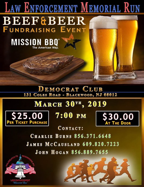 FOP Lodge 30 Law Enforcement Memorial Run Beef & Beer 2019
