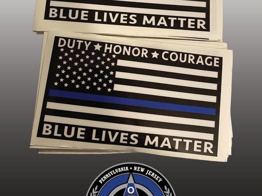 Blue Lives Matter Sticker Fundraiser